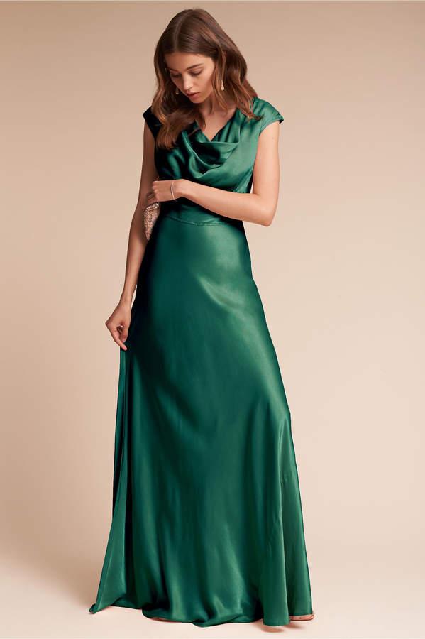 Ghost London Gloss Dress Green Silk Dresses Green Wedding Dresses Fall Bridesmaid Dresses