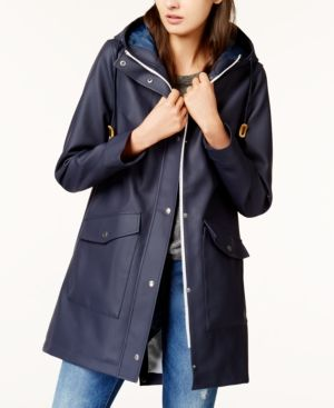 e4c2181c112 Hooded Front Zip Raincoat in 2019 | Products | Blazer jackets for ...