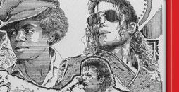 Michael Jackson etch a sketch by George Viosich III  More