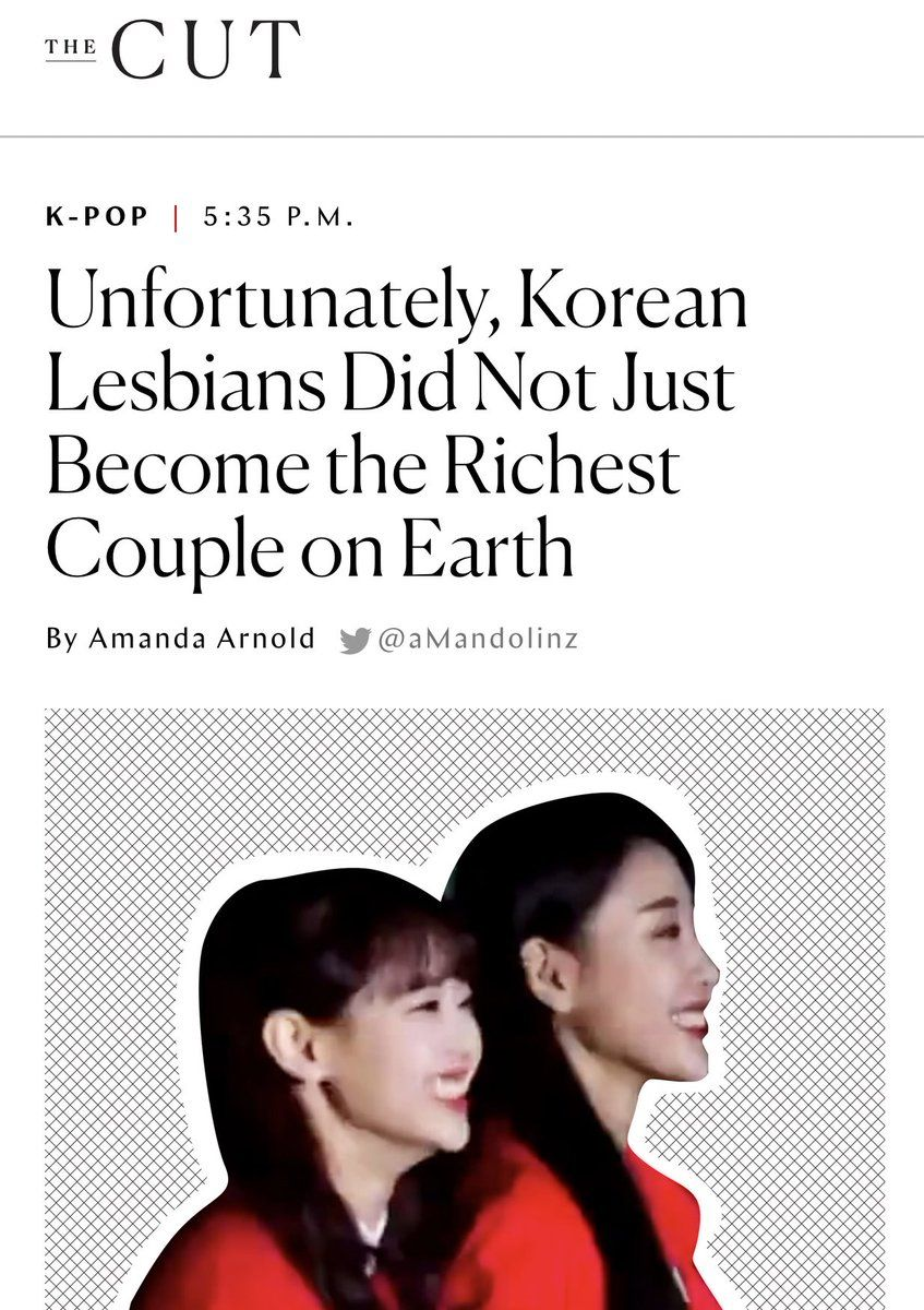 Unfortunately Korean Lesbians Did Not Just Become The Richest Couple On Earth Rich Couple Lesbian K Pop Star