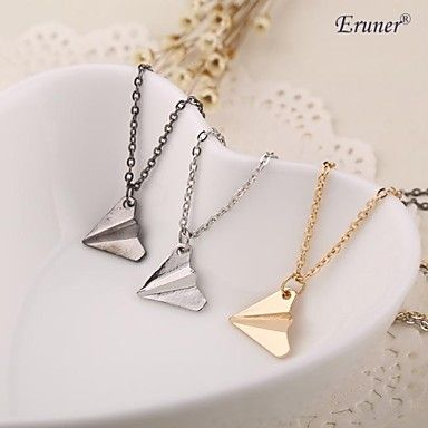 Eruner® Hot Sale Hot Fashion Paper Airplane Necklace Chain Pendant – EUR € 0.91