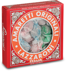 il Mercato Italiano - Lazzaroni Amaretti Cookies   Windowed box, $6.95 (http://www.ilmercatoitaliano.net/lazzaroni-amaretti-cookies/) These cookies are so yummy!!