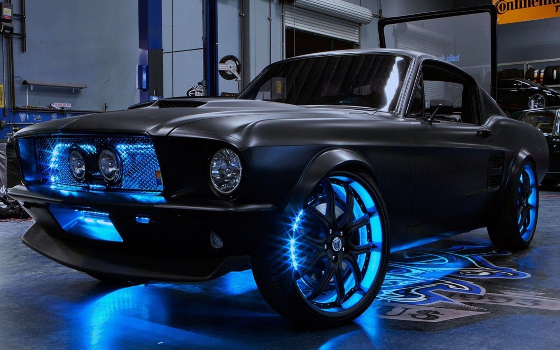 Ford Mustang with Neon Lights   Featured Concept Cars   Pinterest ...