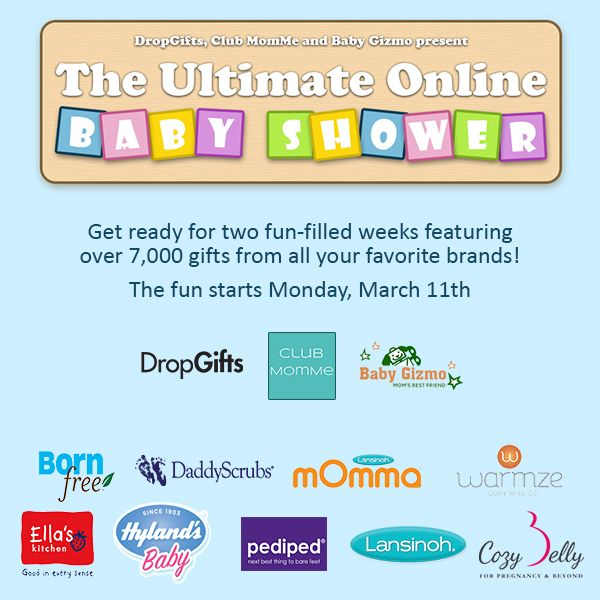 The Ultimate Online Baby Shower! Over 7,000 Free Samples And Gift Cards For  Moms Starting