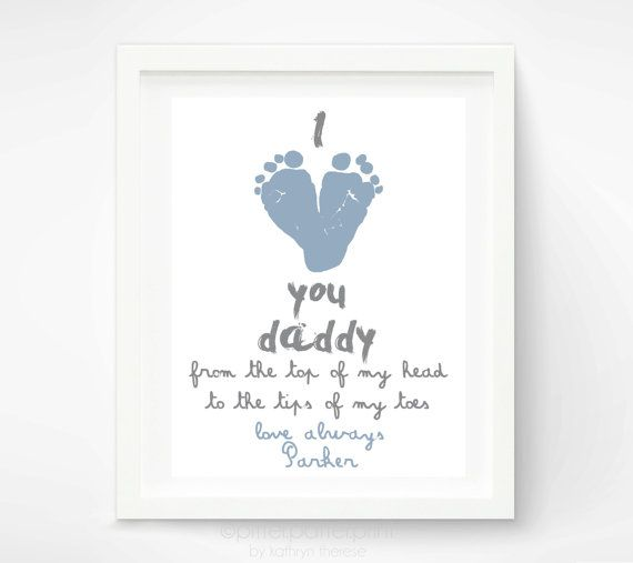 Personalized Father S Day Gift For New Dad I Love You Daddy Baby