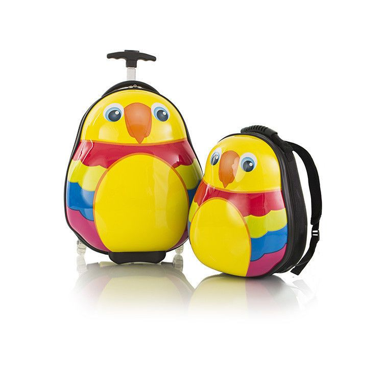 Parrot Kids Luggage Set Heys Travel Tots Carry On Animal School ...