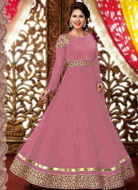 Baju gamis modern terbaru baju gamis model india pink Model baju gamis batik muslimah terbaru