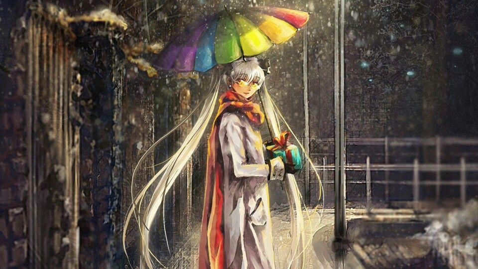 Rainbow grey Umbrella art, Anime wallpaper, Anime