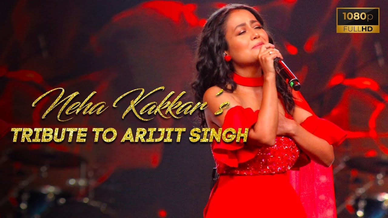 Neha Kakkar Tribute To Arijit Singh Vibhor Parashar Kunal Pandit In 2020 Neha Kakkar Music Awards Love Songs Hindi