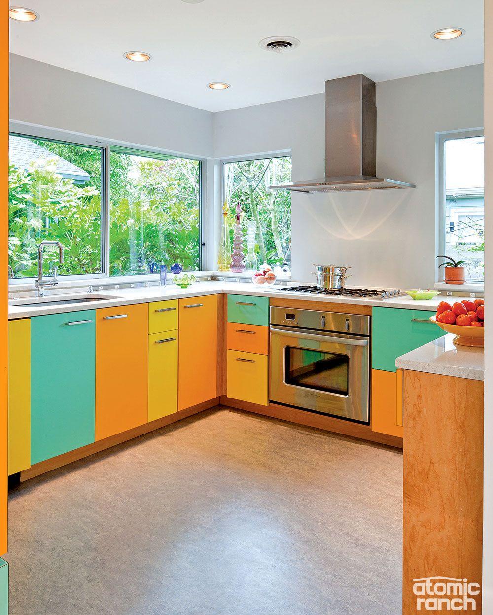 27 Brilliant Small Kitchen Design Ideas: That's Brilliant, Pt. 3: A Last-Minute Atomic Kitchen Renovation
