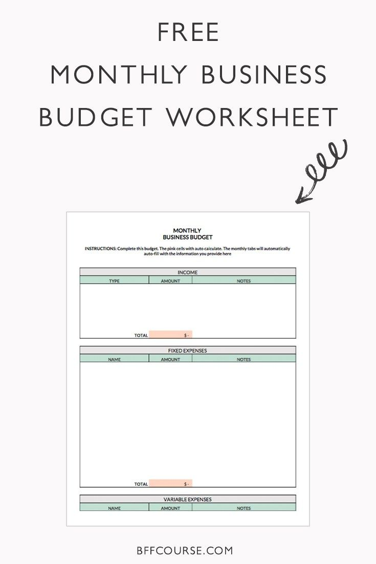 The 5 Biggest Budgeting Mistakes Business Budget Template Budgeting Business Worksheet