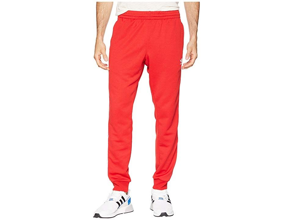 cd534f002f5 adidas Originals SST Track Pants (Collegiate Red) Men's Workout. Maintain  your authenticity in