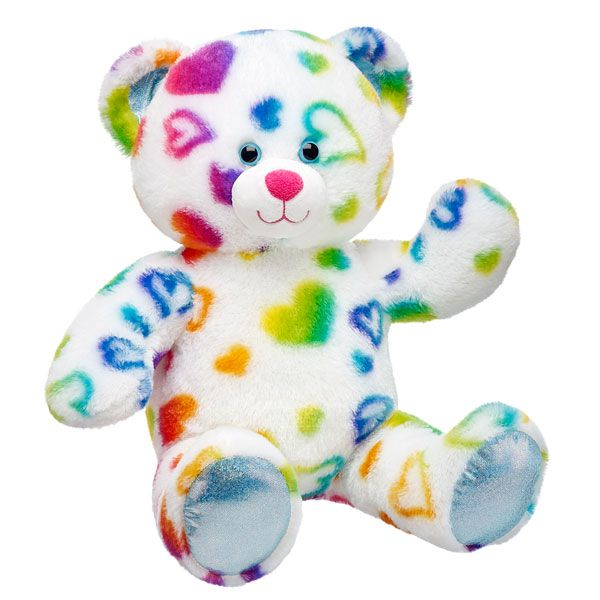 17 in. Rainbow Hearts Bear | Build-A-Bear Workshop | Build a Bear ...