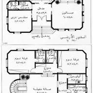 رسومات هندسية لمنازل مصرية Family House Plans Architectural House Plans House Floor Design