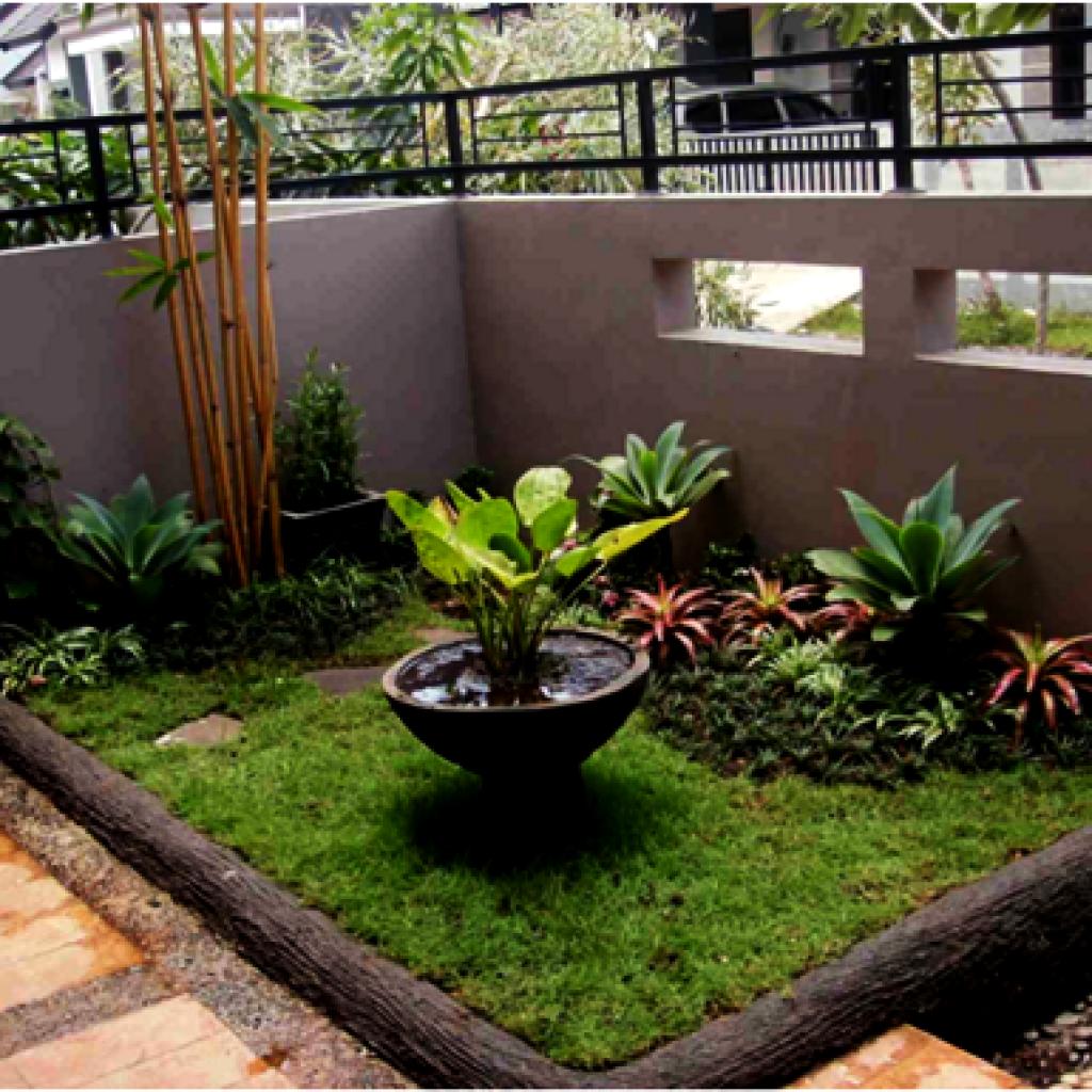 Membuat Taman Minimalis Lahan Sempit Taman Kecil Depan Rumah - Content