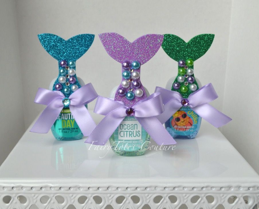 Mermaid Tail Favor Hand Sanitizer Favor Little Mermaid