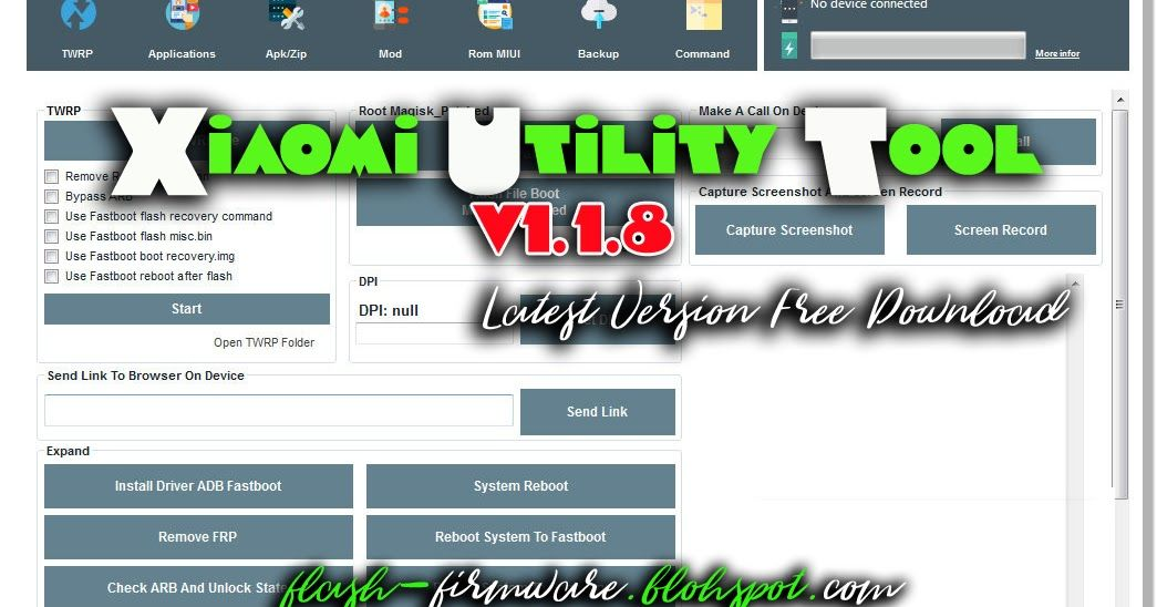 Downloadxiaomi Utility Tool V1 1 8 Latest Feature Twrp Option