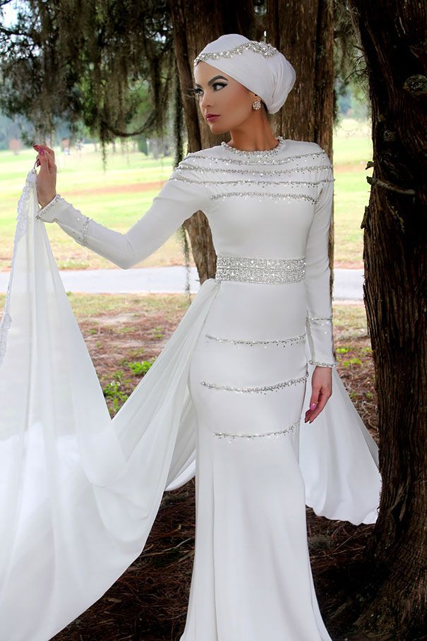 últimas tendencias de 2019 nueva llegada fuerte embalaje vestido-novias-musulmanas-hijab (8) | Maquillaje Fantasia ...