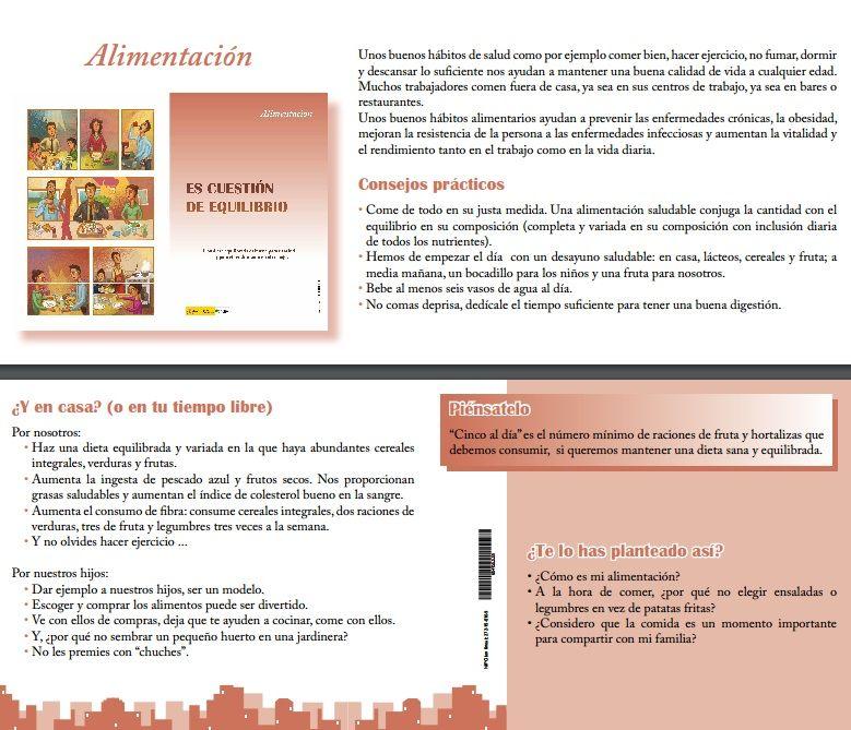 Campaña de Promoción de la salud Tema n°8 Alimentación