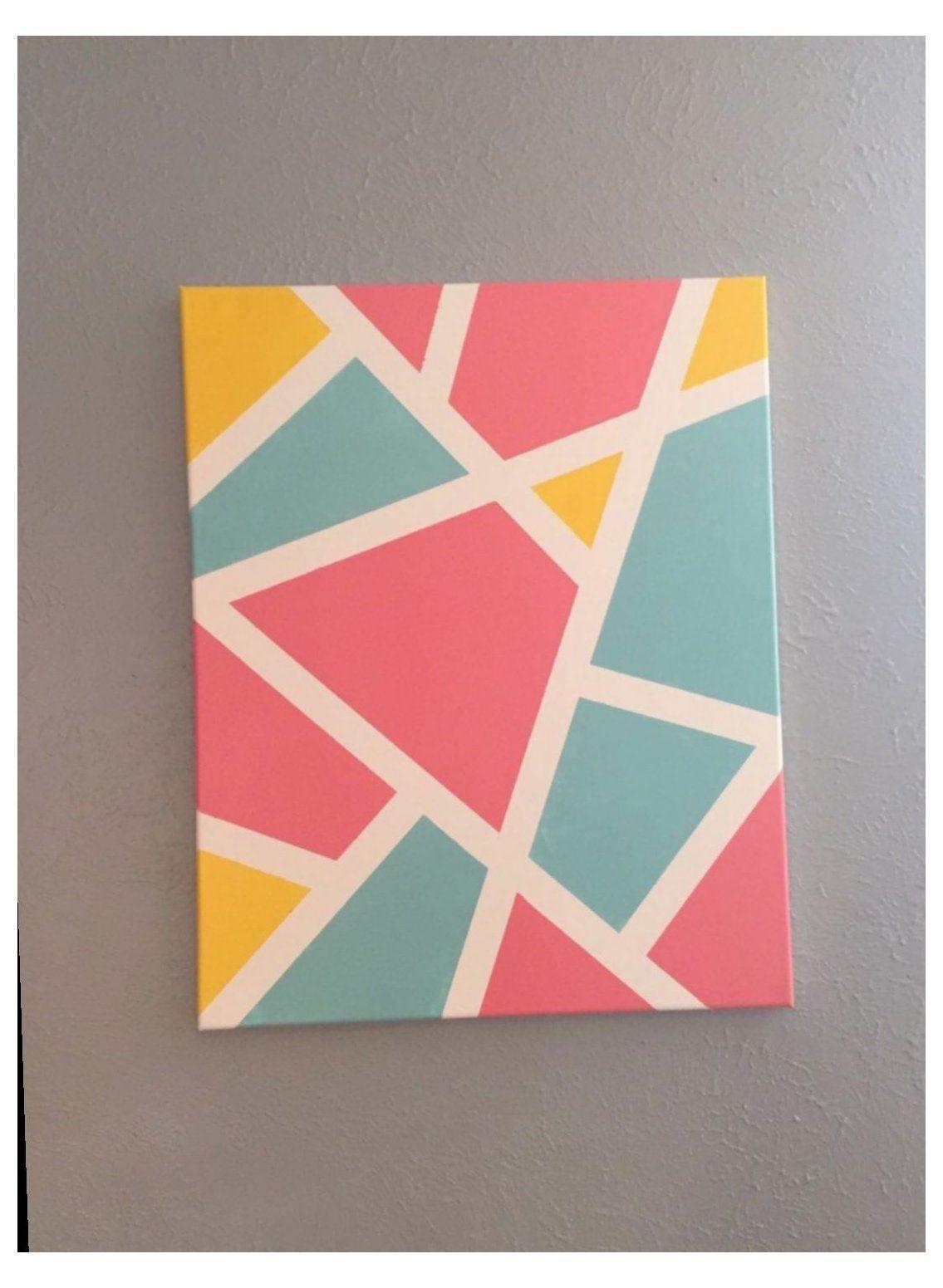 Cute Painting Ideas Aesthetic Painters Tape Art Diy Canvas