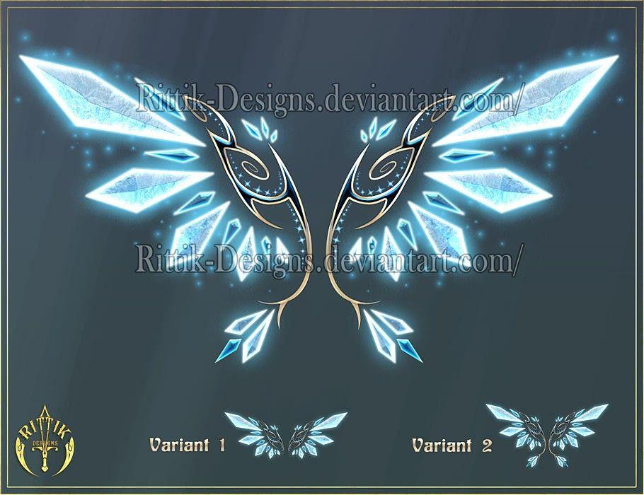 Ice Crystal Wings   Wings art, Wings drawing, Magic wings