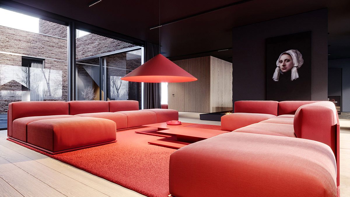 Pin On Interiors Interiery #red #and #grey #living #room #accessories
