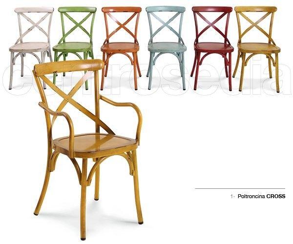 Cross Poltroncina Metallo Vintage-Sedie Vintage e Industriali | We ...