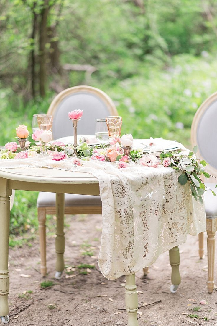 Vintage style wedding decoration ideas  Romantic Wedding Inspiration Featured On Midwest Bride  Unique