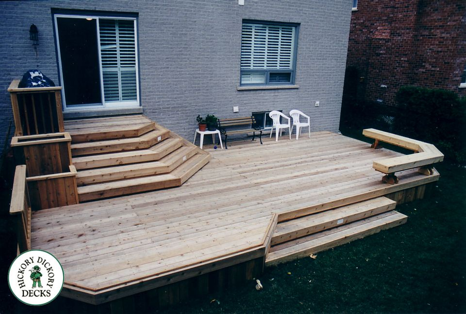 Deck Ideas For Bi Level Homes: The-bi-level-deck-has-wide