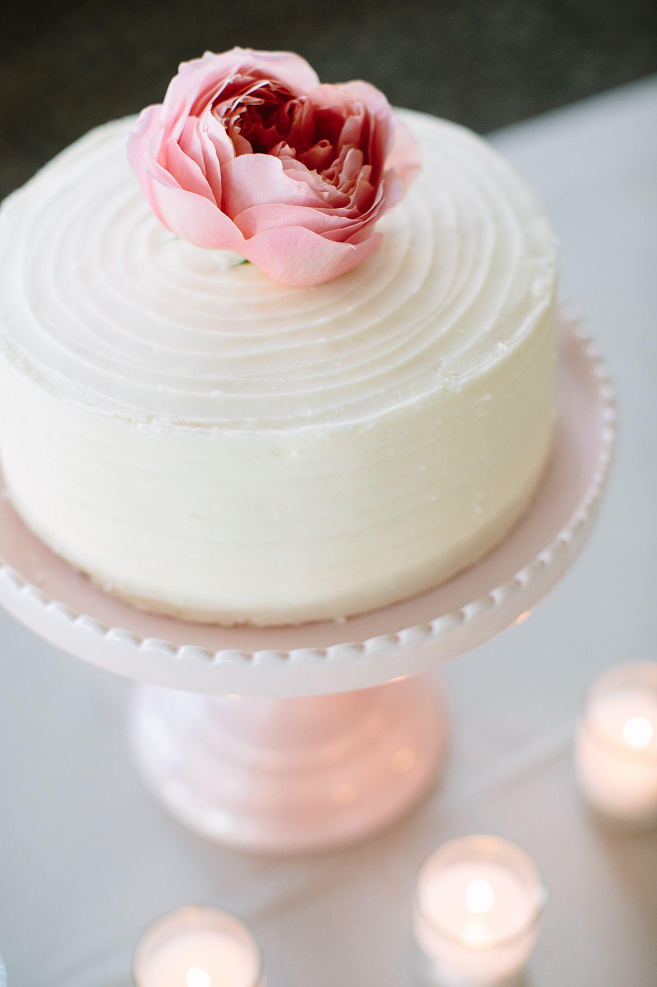 Single Layer Wedding Cake Diy wedding cake, Cake