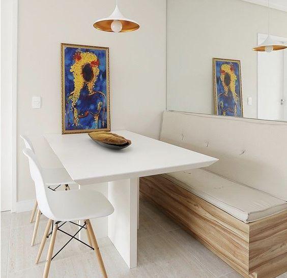 Decoracao 15 Salas De Jantar Pequenas Com Mesas Encostadas Sala