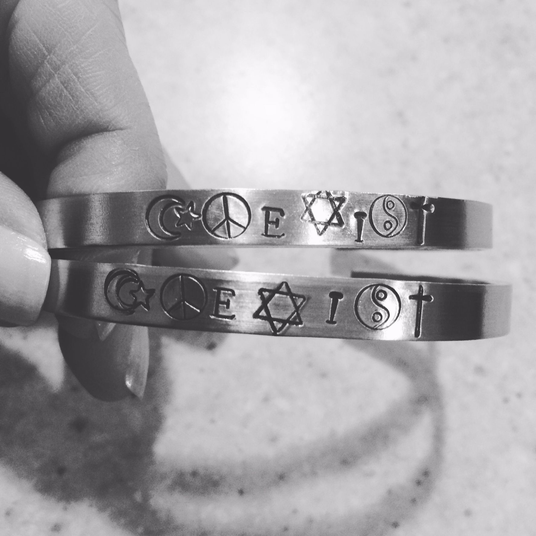 Coexist symbols etsy azinspiedjewelry az inspied jewelry