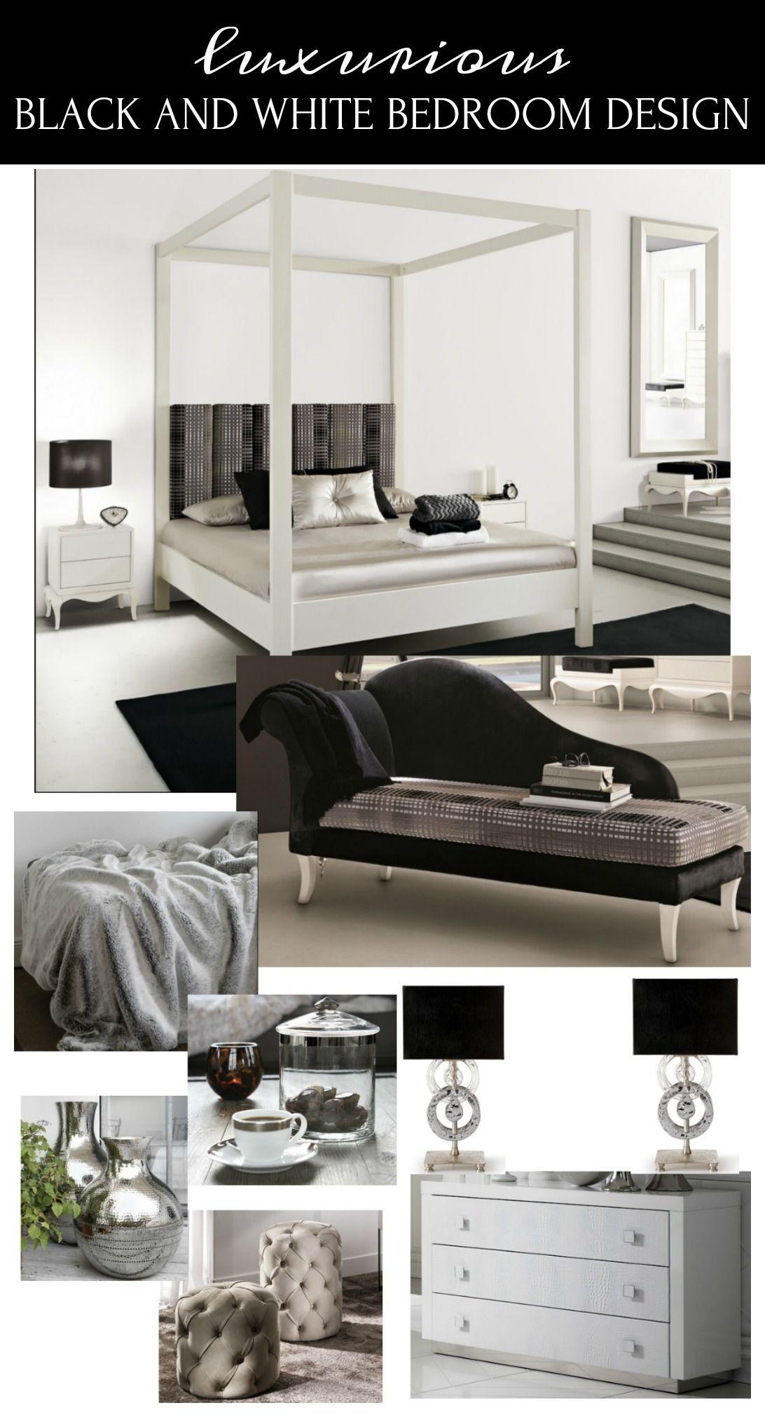 Marvelous Luxurious Black And White Bedroom Design   Taryn Whiteaker