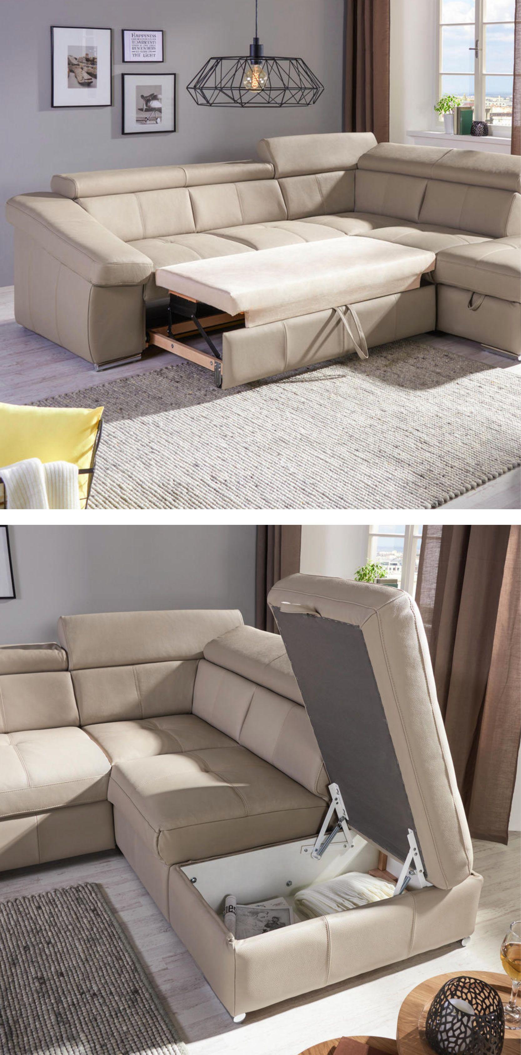 Wohnlandschaft In Leder Sandfarben Online Kaufen Xxxlutz Wohnlandschaft Wohnen Couch