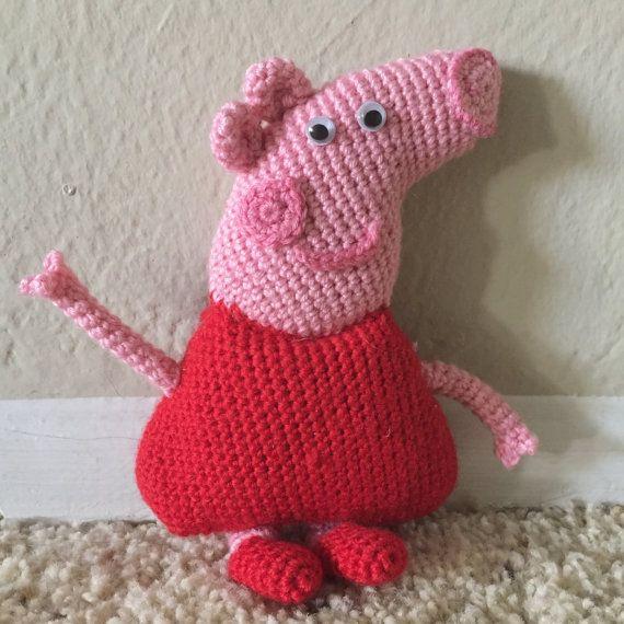 Pepa pig crochet pepa pig toy crochet pig por KnitsfromHeart
