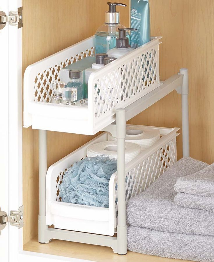 Organize the contents of your bathroom with these