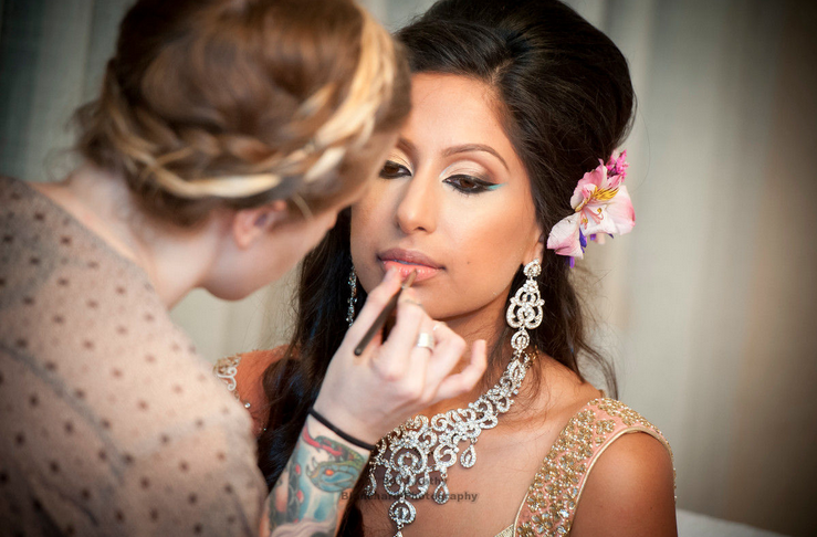 Indian Bridal Hair And Makeup By Caitlyn Meyer Baltimore Maryland South Asian Bride Wedding Artist