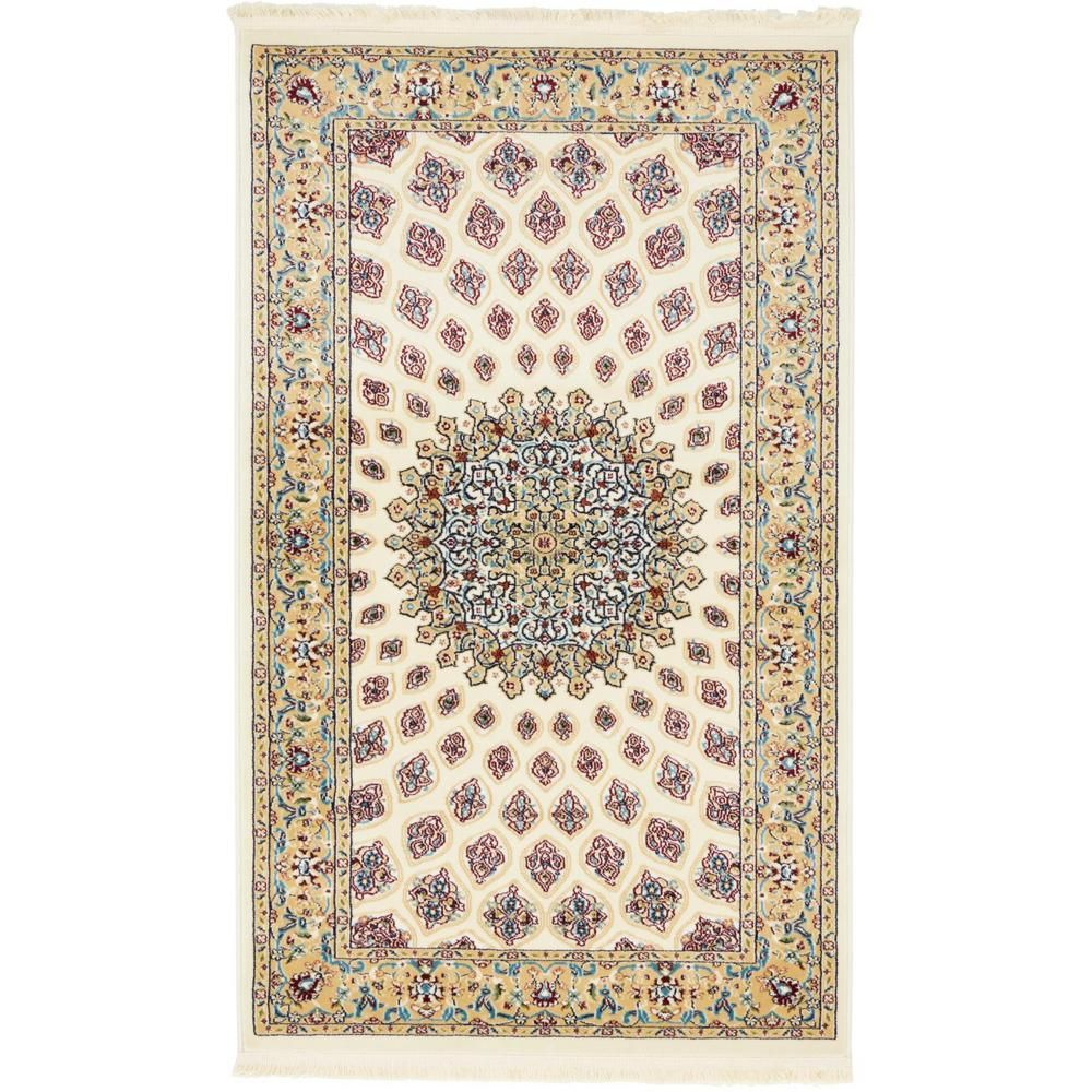 Unique Loom Narenj Nottingham Ivory 3 0 X 5 0 Area Rug 3135841 Products Rugs Area Rugs Beige Area Rugs