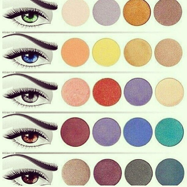 The complementary colors that bring out the color of eyes  .
