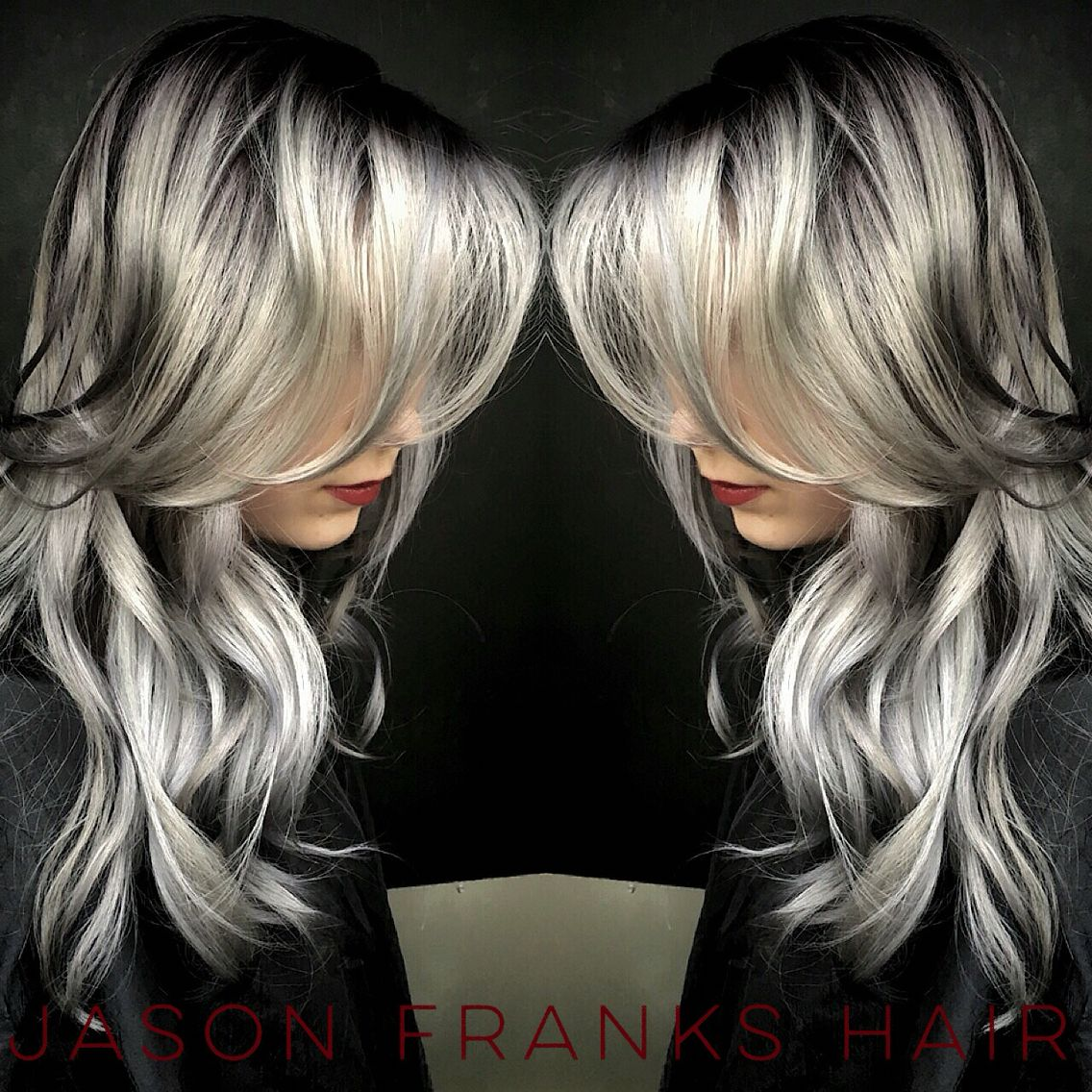 Crystal Ash Blonde Hair Color Ideas For Winter 2016: Grey Hair Chrome Hair Winter Fall 2015 2016 Hair Color