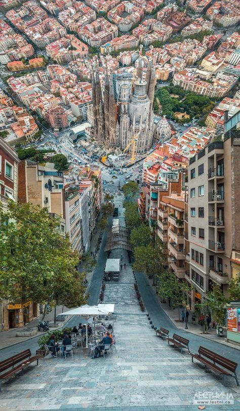 Barcelona Cool Picture In Spite Of The Construction And City Beautiful Vacation Spots Places To Travel Places To Visit