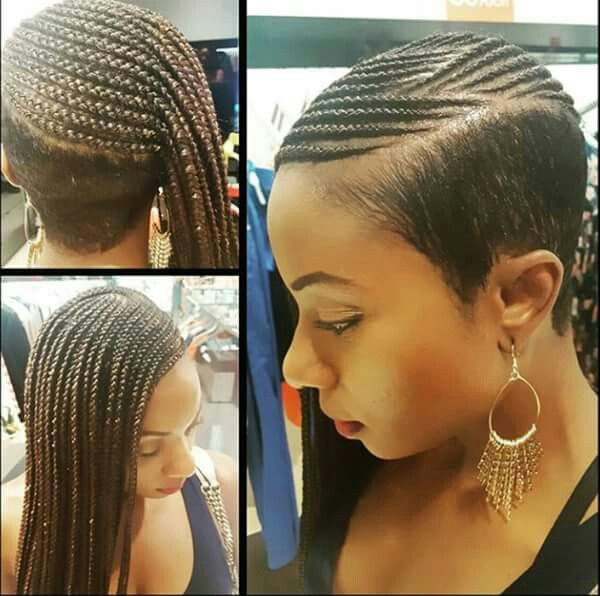 Pin By Sabrina On Braided Up Braids With Shaved Sides Lemonade Braids Hairstyles Shaved Side Hairstyles
