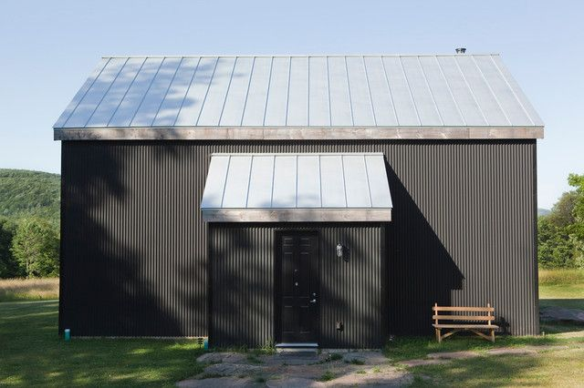 Galvanized Roofing Exterior Rustic With Barn Black Door Black House Corrugated Metal Siding Garden Corrugated Metal Siding Metal Buildings House Exterior