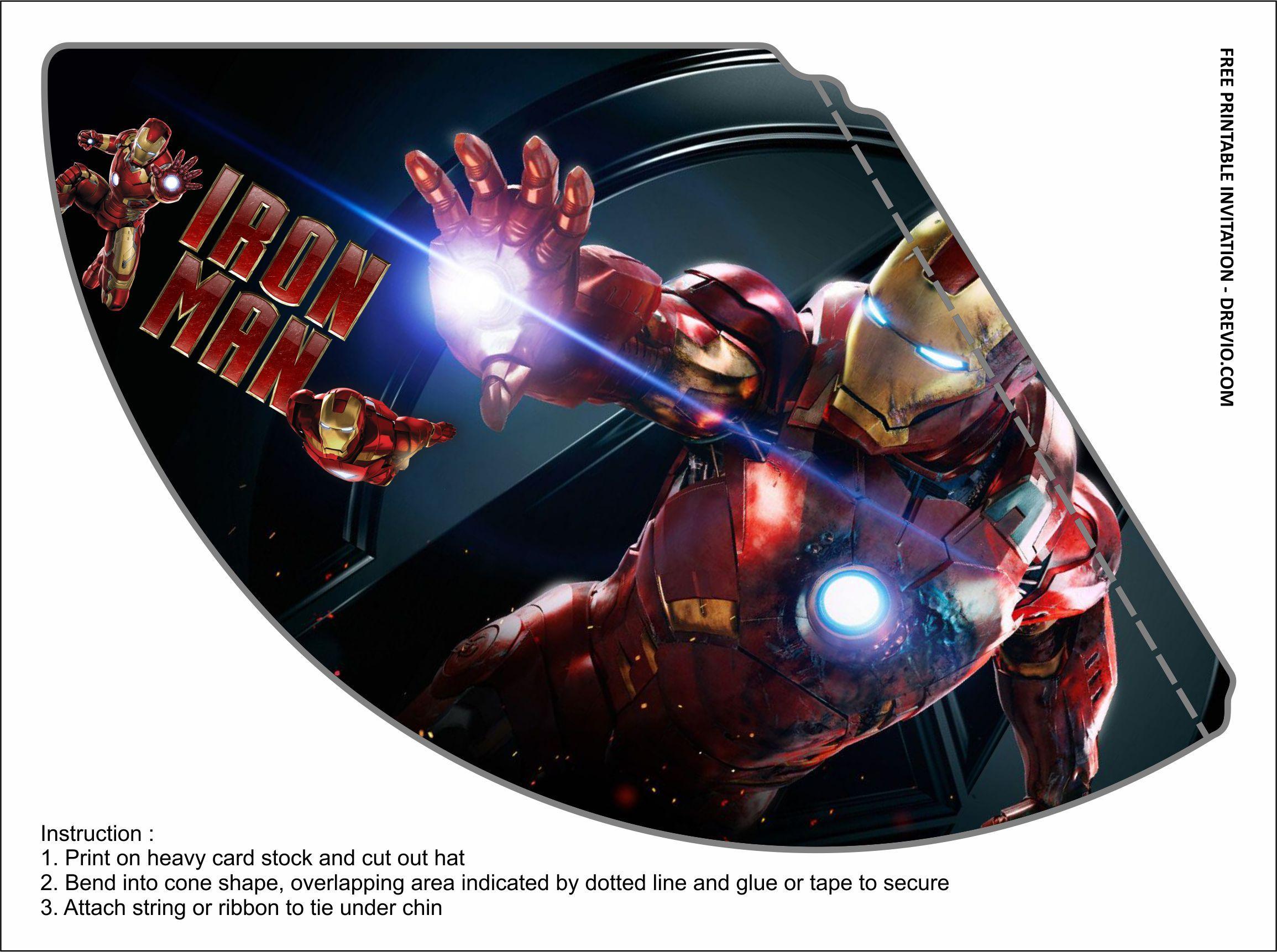 Free Printable Iron Man Birthday Party Kits Templates Iron Man Birthday Party Iron Man Birthday Mens Birthday Party