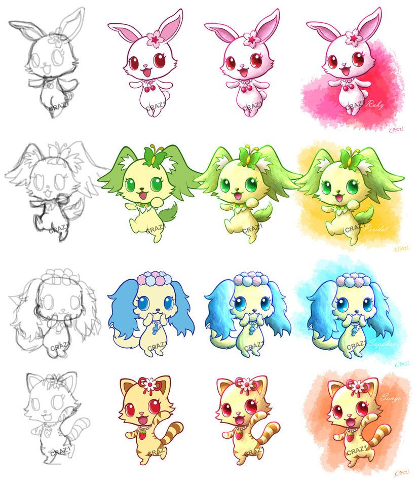 Jewelpet Progressions by CRAZ1   Manga   Pinterest