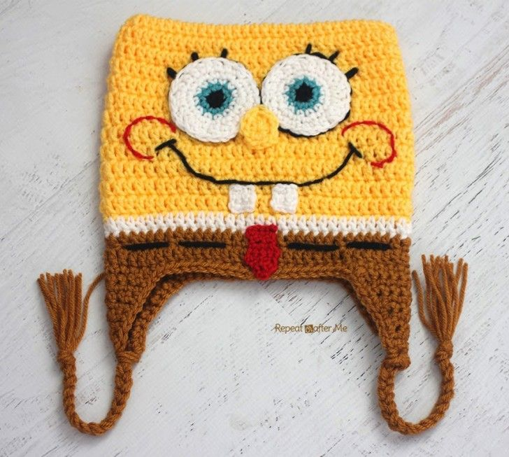 Crochet Bob the Square Sponge Hat - Repeat Crafter Me b01ae29ab8c