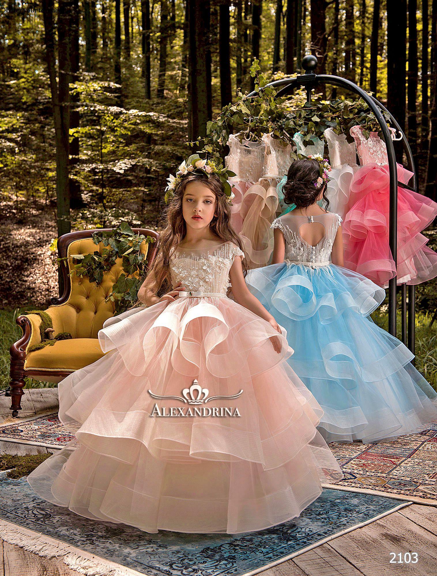 Little girl dresses for weddings    Magical forest  Pinterest  Communion Flower girl dresses