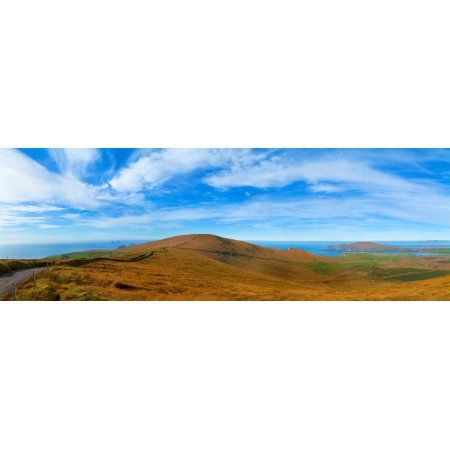 Moor landscape of Coomanaspig Pass Portmagee Valentia Island Ring Of Kerry County Kerry Republic of Ireland Canvas Art - Panoramic Images (36 x 12)
