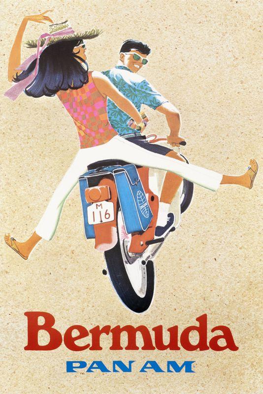 Bermuda - Pan Am by Zdinak (1960) | Shop original vintage posters online: www.internationalposter.com