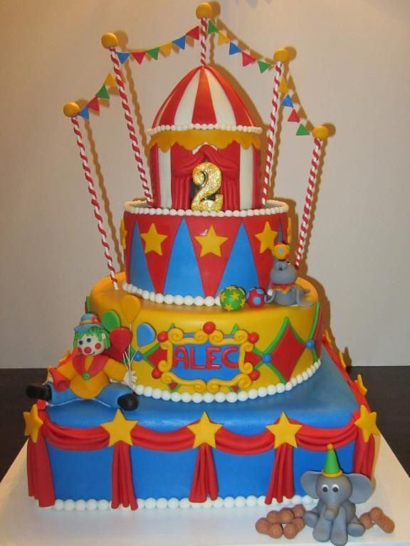 Circus Big Top Cake project on Craftsycom Ice cream party